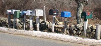 mail boxes on middle road